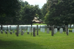 Picture of gravestones in Spring Creek Mennonite Cemetery